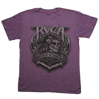 RVCA No Buffalo T-Shirt - Purple Lights