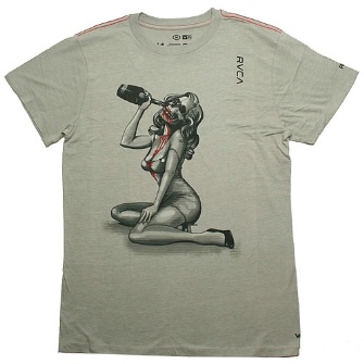 RVCA Drinking Girl T-Shirt