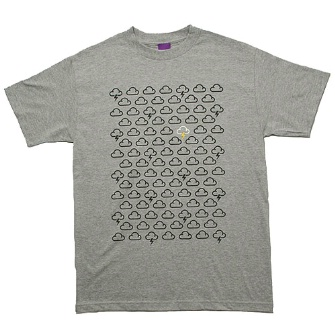 Second Son Weather Pattern T-Shirt - Grey Marl