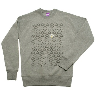 Second Son Weather Pattern Crew Sweat - Grey Marl