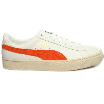 Puma Basket 68 Shoe - White/Orange