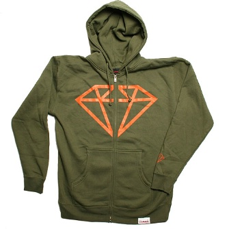 Diamond Supply Co Rock Hoody - Olive