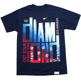 Diamond Supply Co Shine On LA T-shirt - Navy