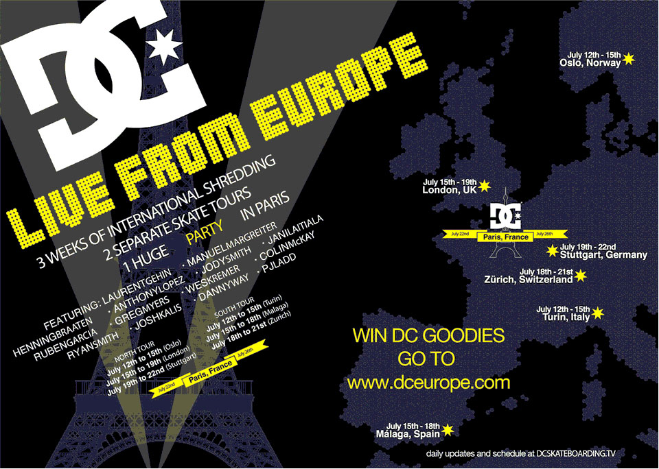 DC Live From Europe Skate Tour