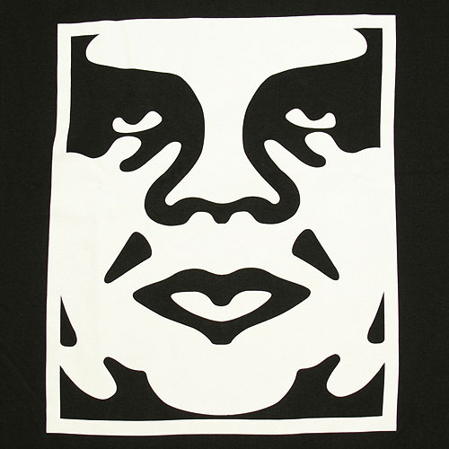 Obey Andre Face T-Shirt - Black