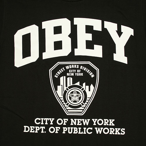 Obey NY Public Works T-Shirt - Black