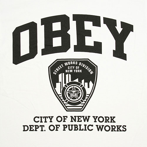 Obey NY Public Works T-Shirt - White