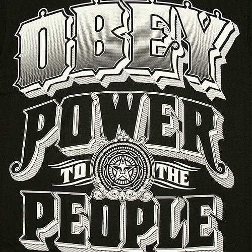 Obey Power To People T-Shirt - Black
