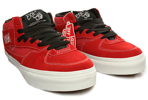 Vans Half Cab Shoe - Aurora Red
